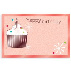"Pack of 10 ""Happy Birthday"" Cupcake mini  enclosure gift cards (9cm x 6cm)"