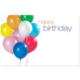 "Pack of 10 ""Happy Birthday"" Balloon mini enclosure gift cards (9cm x 6cm)"