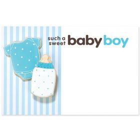 "Pack of 10 ""Such a Sweet Baby Boy mini enclosure gift cards  (9cm x 6cm)"