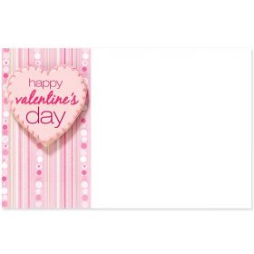 "Pack of 10 ""Valentine's Day"" mini enclosure gift cards (9cm x 6cm)"