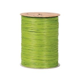 91.4M Berwick Matte Raffia ribbon - Apple green