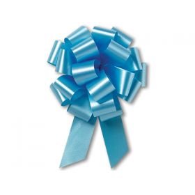22mm embossed pull bow (Pack of 10) - Light blue