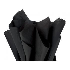 Pack of 4 tissue paper - Black (51cm x 76cm)