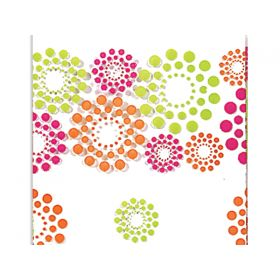 Pack of 10 Blooming hot dots cello bags (10cm x 5cm x 23cm)