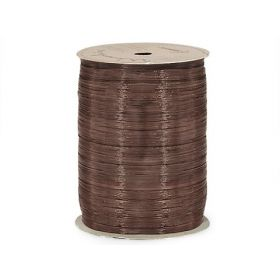 91.4M Berwick Matte Raffia ribbon - Chocolate
