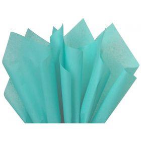 Pack of 4 tissue paper - Turquoise blue (51cm x 76cm)