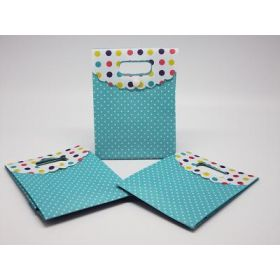 Polka dot tab top box gift bags (Pack of 10)