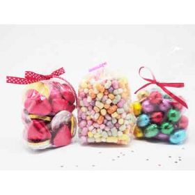 "Pack of 50 Mini clear gusseted cellophane sweets / Party / Gift bags (2½"" x 1¼"" x 7½"")"