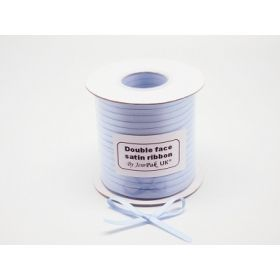 5M x 5mm Double face satin ribbon - Bluebell