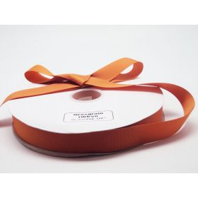 5M x 38mm Grosgrain ribbon - Golden orange