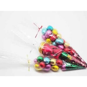 "Pack of 25 Clear Cone shaped cellophane sweet/party/gift bags (12"" x 6"")"