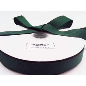5M x 38mm Grosgrain ribbon - forest green