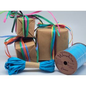 10M CUT Berwick Matte Raffia ribbon - Aqua (adds natural look and enhance gift packages, floral & craft arrangements)