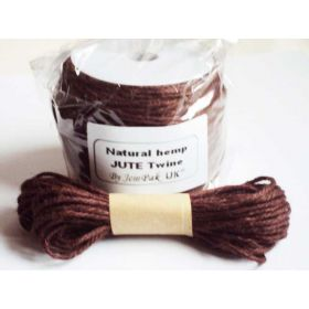 JEMPAK UK 10M x 2mm thick  BROWN natural Hemp Jute Twine rope