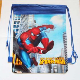 Spiderman - kids drawstring backpack gym/swimming/school bag - BLUE