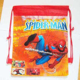 Spiderman - kids drawstring backpack gym/swimming/school bag - RED