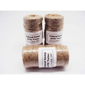 JEMPAK UK 91.4M roll of 2mm thick 100% natural hemp rope bakers twine - Jute twine