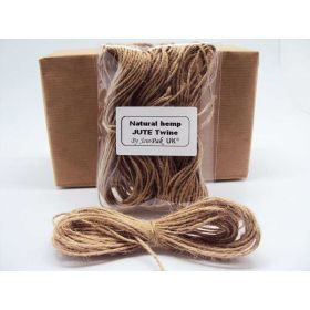 JEMPAK UK 20M x 2mm thick 100% natural hemp rope bakers twine - Jute twine