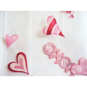 """Pack of 10 Valentine's """"I love you"""" gusseted cellophane bags (10cm x 5cm x 23cm)"""