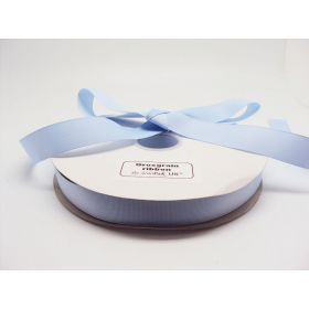 5M x 25mm Grosgrain ribbon - Baby blue