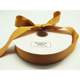 5M x 38mm Grosgrain ribbon - Gold