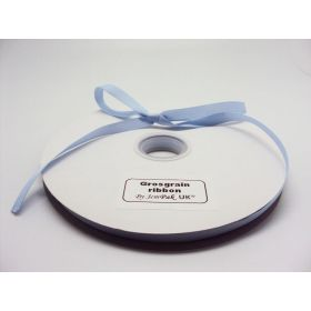 5M x 10mm Grosgrain ribbon - Baby blue