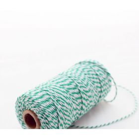 JEMPAK UK® 91.4M x 2mm thick 100% cotton bakers twine  - Forest Green