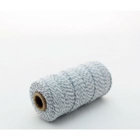JEMPAK UK® 91.4M x 2mm thick 100% cotton bakers twine  - Grey