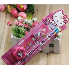 5 in 1 kids Disney Hello Kitty stationary set
