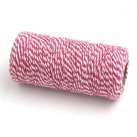 JEMPAK UK® 91.4M x 2mm thick 100% cotton bakers twine  - Hot Pink