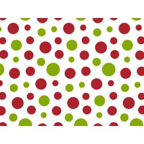 JEMPAK UK® Pack of 6 Festive Xmas Dots Tissue Paper (51cm x 76cm)