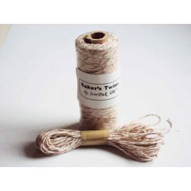 JEMPAK UK 10M x 2mm thick 100% cotton bakers twine -  Red shimmer