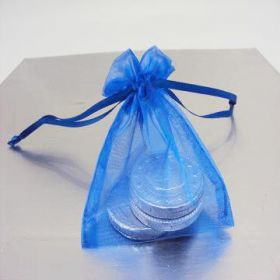 "Pack of 10 Royal organza bags with satin drawstring cord (3"" x 4"")"