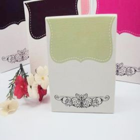 Pack of 10 Sage tapestry favour box