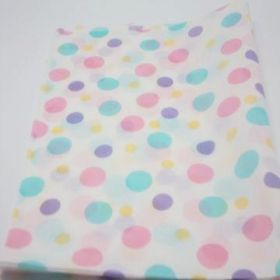 Pack of 6 Sorbet dots tissue paper (51cm x 76cm)