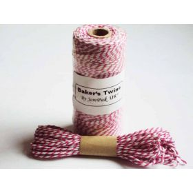 JEMPAK UK 10M x 2mm thick 100% cotton bakers twine  - Hot Pink