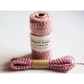 JEMPAK UK 10M x 2mm thick 100% cotton bakers twine  - Red