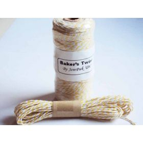 JEMPAK UK 10M x 2mm thick 100% cotton bakers twine  - Yellow