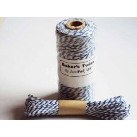 JEMPAK UK 10M x 2mm thick 100% cotton bakers twine  - Blue Berry