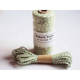 JEMPAK UK 10M x 2mm thick 100% cotton bakers twine  - Lime Green