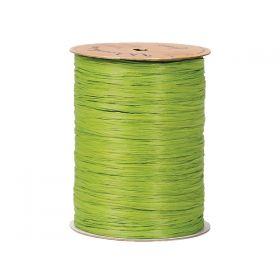 91.4M Berwick Matte Raffia ribbon  - Jungle green