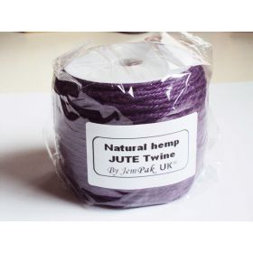 91.4M x 2mm thick PURPLE natural Hemp Jute Twine rope