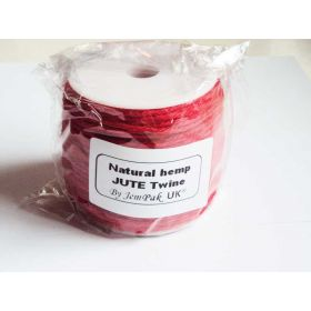 91.4M x 2mm thick RED natural Hemp Jute Twine rope - RED