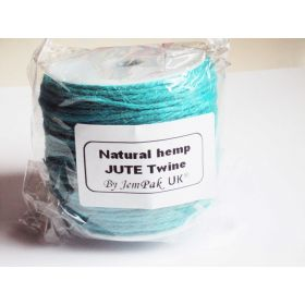 91.4M x 2mm thick TURQOUISE BLUE natural Hemp Jute Twine rope