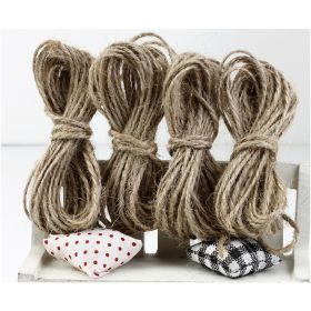 JEMPAK UK 10M x 2mm thick 100% natural hemp rope bakers twine - Jute twine