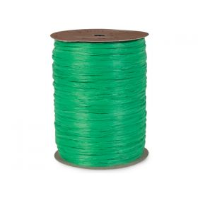 91.4M Berwick Matte Raffia ribbon - Kelly green
