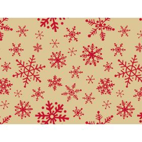 JEMPAK UK® Pack of 6 Woodcut Snowflakes (Kraft) Xmas Tissue Paper