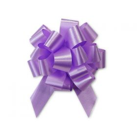 36mm embossed pull bow (Pack of 10) - Lavender