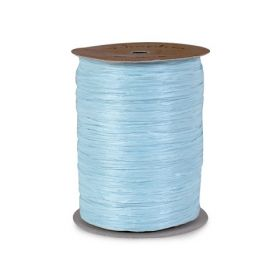91.4M Berwick Matte Raffia ribbon - Light blue