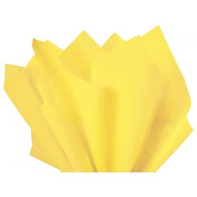 Pack of 4 tissue paper  - Light yellow (51cm x 76cm)